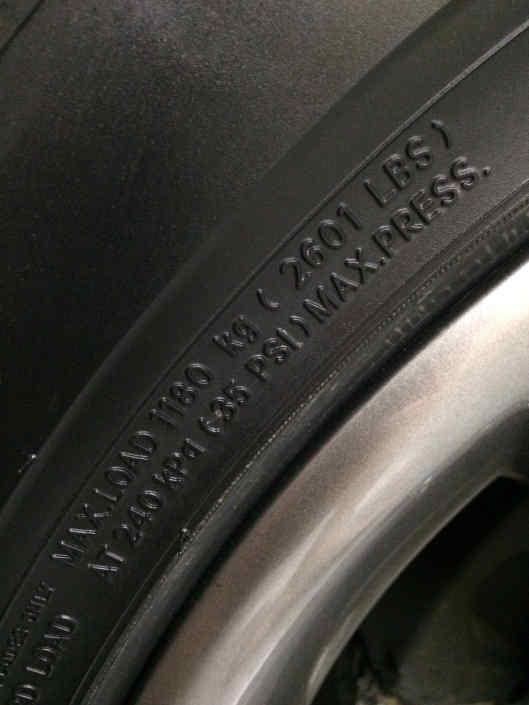 Tire Pressure PSI Code